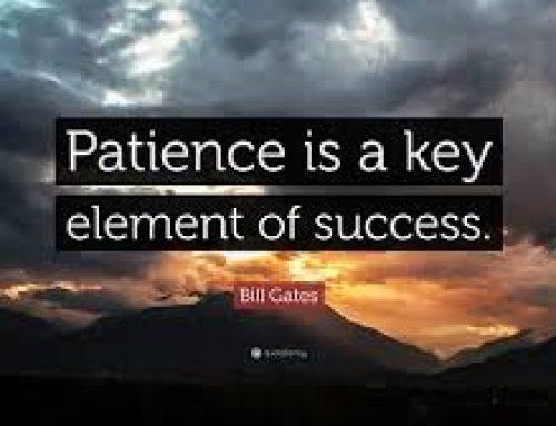 Potrpežljivost je alfa in omega vadbe